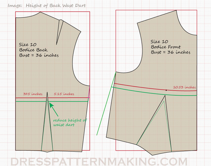 reduce-height-back-waist-dart
