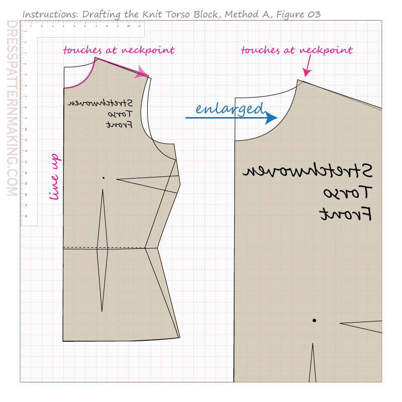 drafting knit torso block methodA figure 03