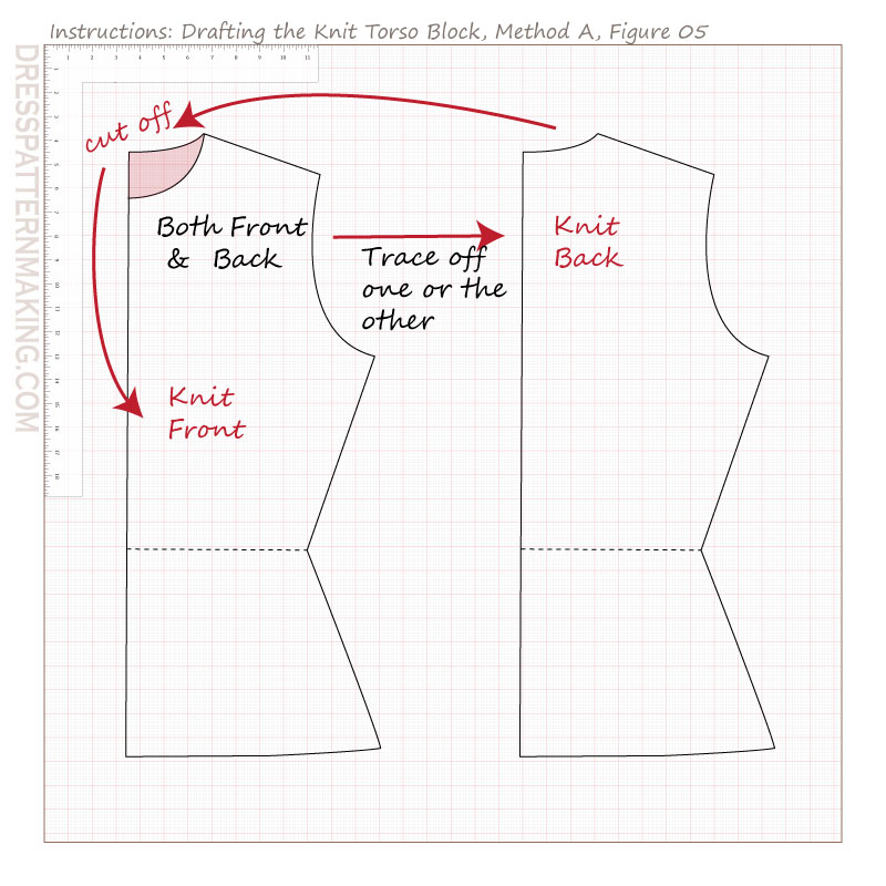 drafting knit torso block methodA figure 05
