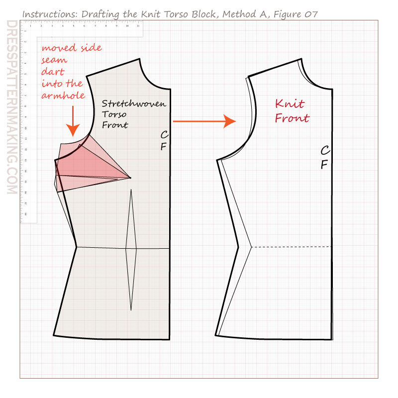 drafting knit torso block methodA figure 07