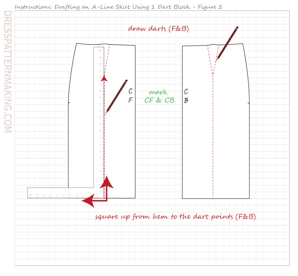drafting A line skirt-01 figure 02