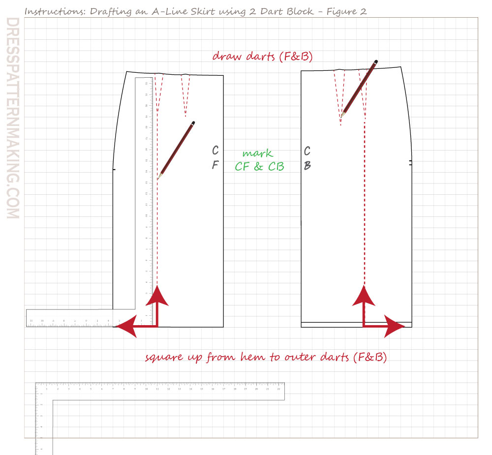 drafting A line skirt-02 figure 02