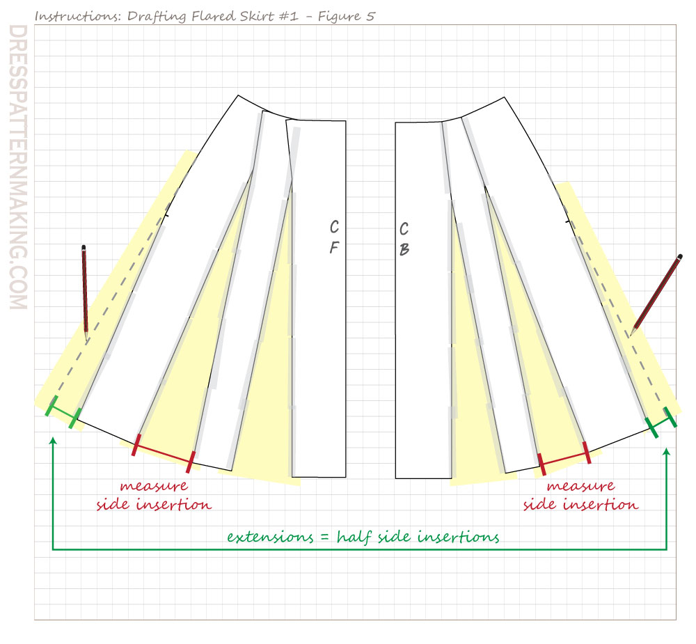 drafting flared skirt 01 figure 05