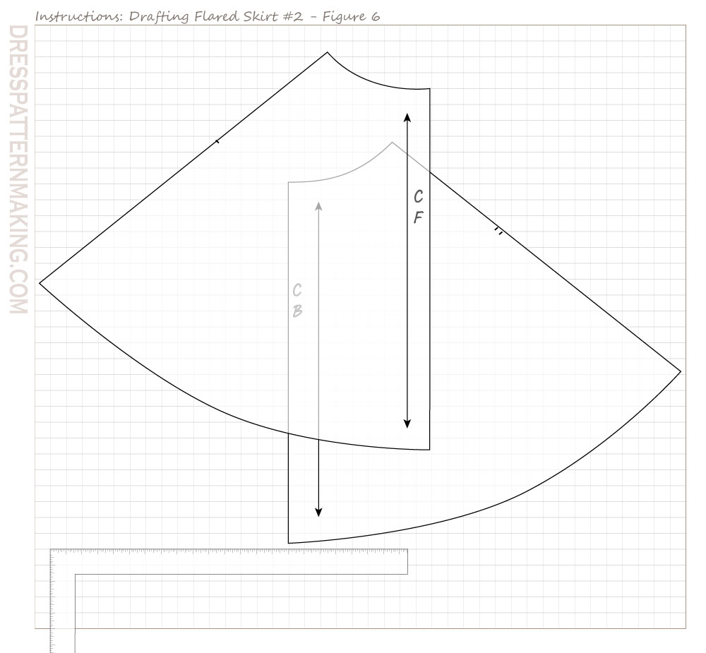 drafting flared skirt 02 figure 06