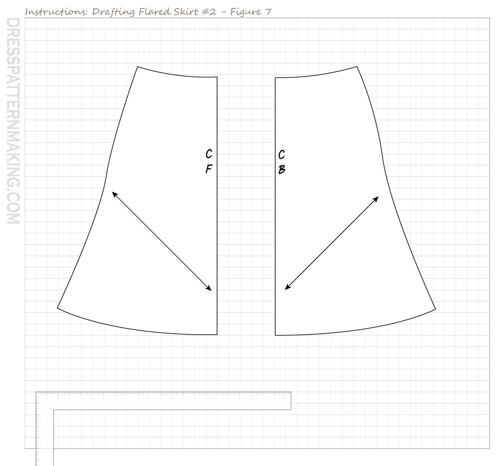 drafting slinky skirt 03 figure 07