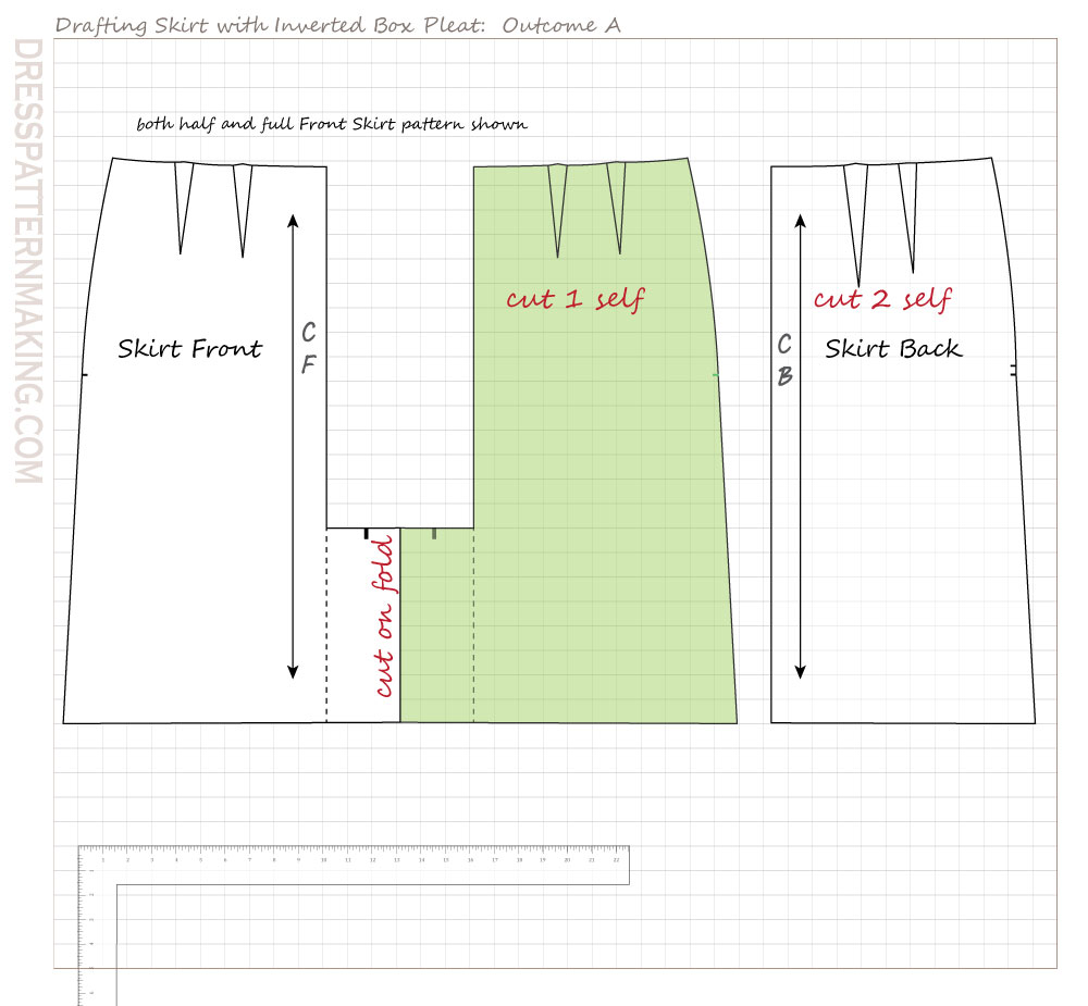 skirt inverted box pleat outcome A