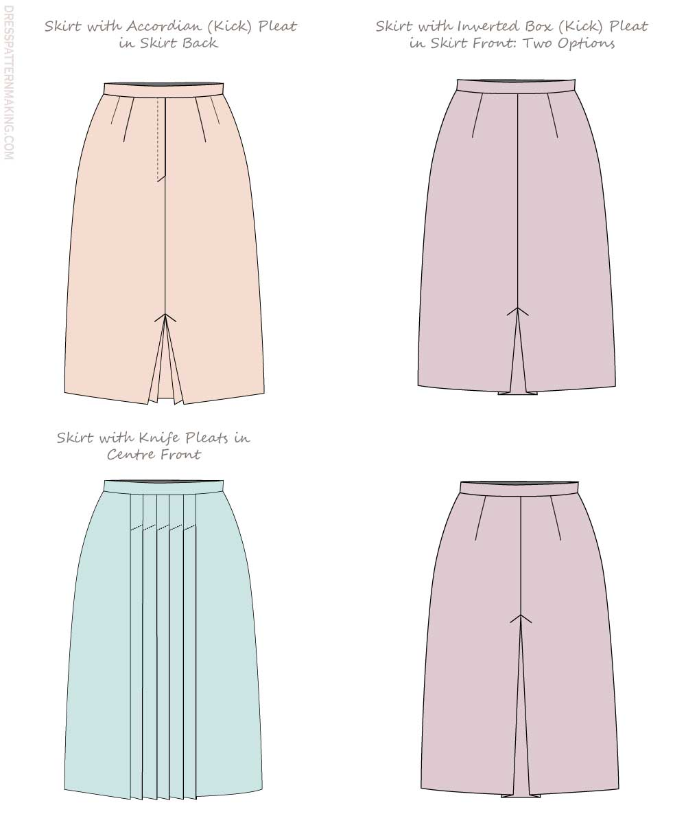 skirts with pleats