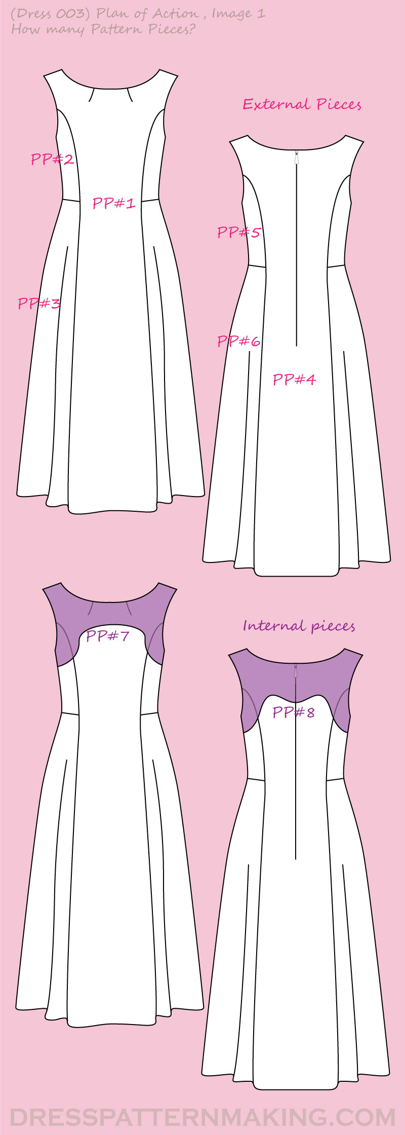 dress 003 POA pattern pieces