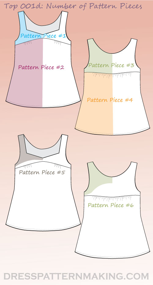 top 001d pattern pieces