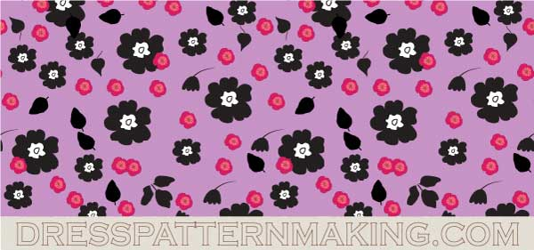 example of a repeating pattern made in Illustrator